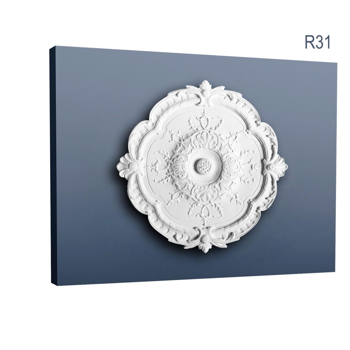 Rozeta Luxxus R31, Dimensiuni: diam. 38,5 cm (H: 2,7 cm), Orac Decor