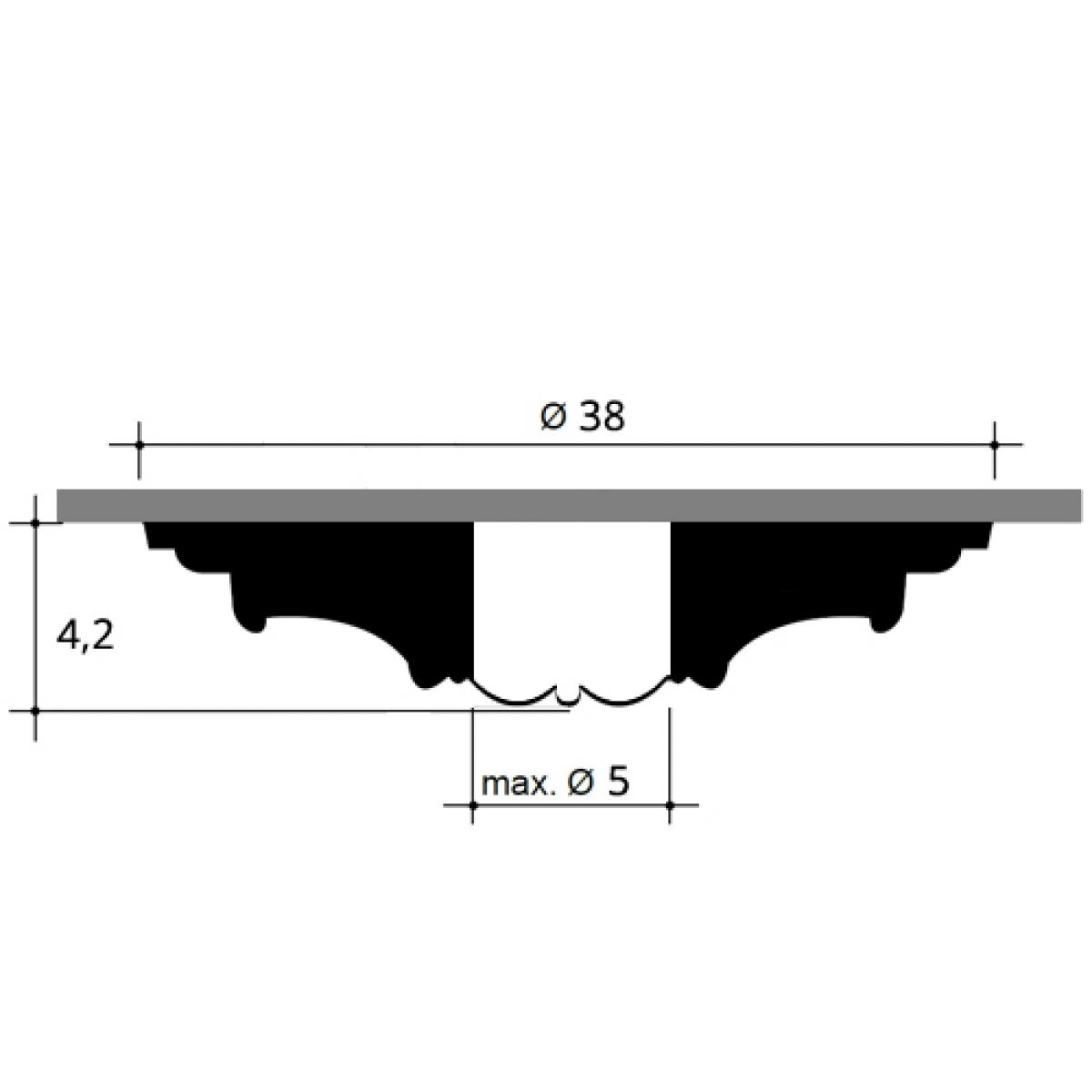 Rozeta Luxxus R08, Dimensiuni: diam. 38 cm (H: 4,2 cm), Orac Decor