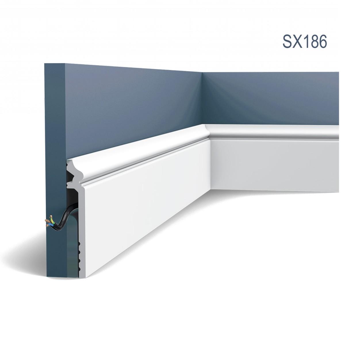 Plinta Luxxus SX186, Dimensiuni: 200 X 2.2 X 13.8 cm, Orac Decor