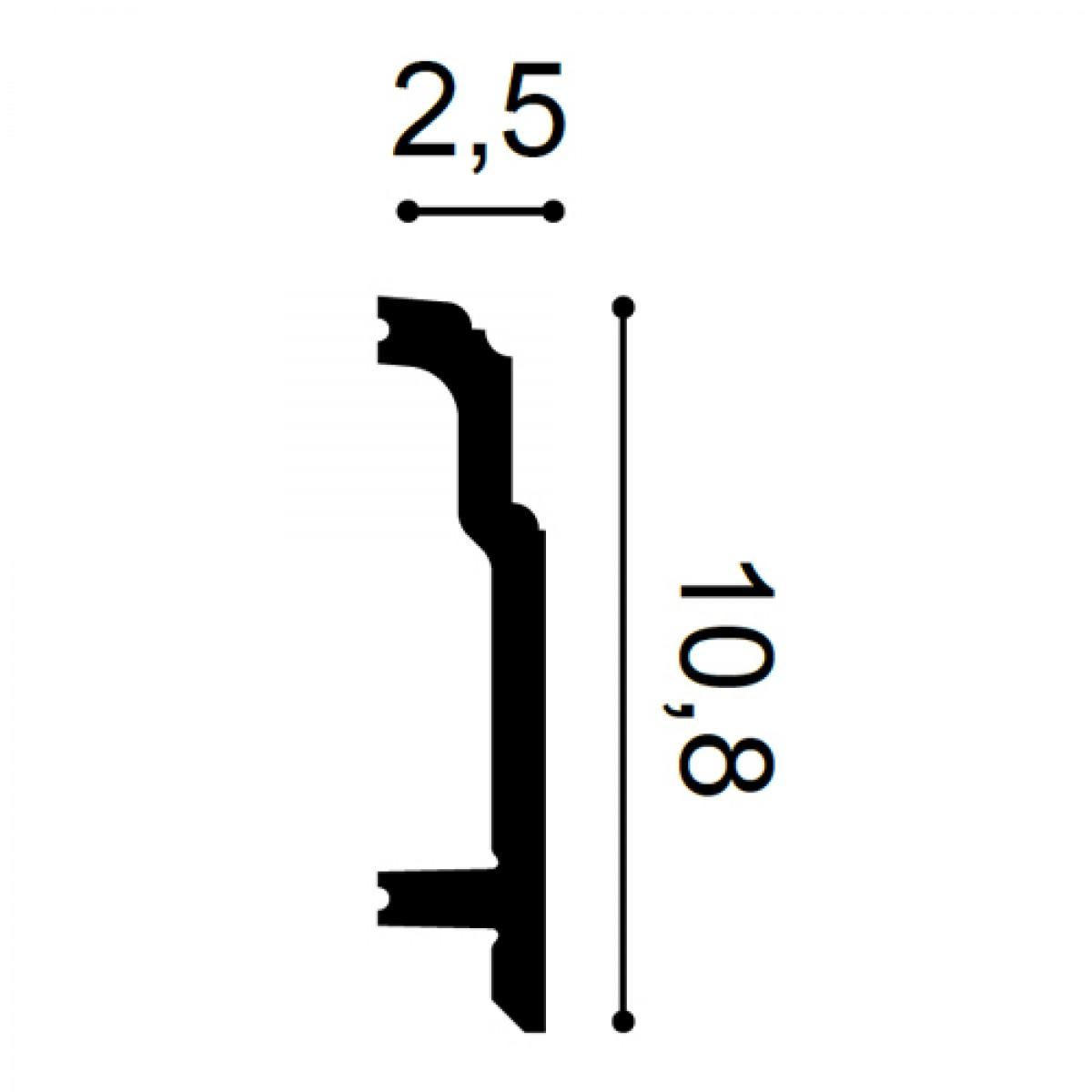 Plinta Flex Luxxus SX155F, Dimensiuni: 200 X 10.8 X 2.5 cm, Orac Decor