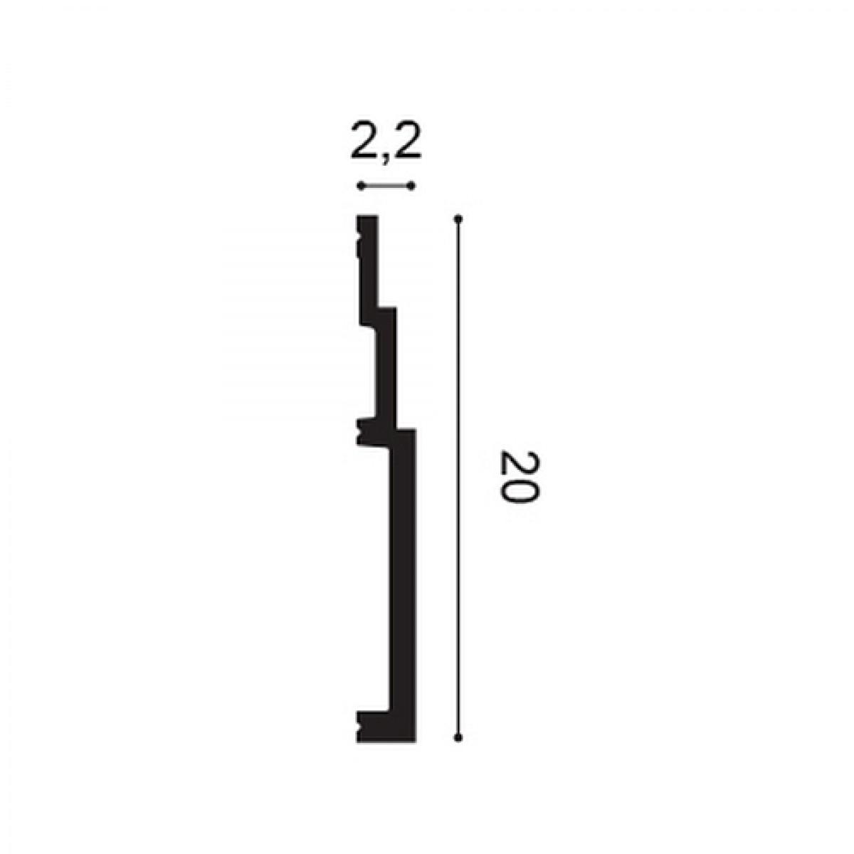 Plinta Modern SX181, Dimensiuni: 200 X 20 X 2.2 cm, Orac Decor
