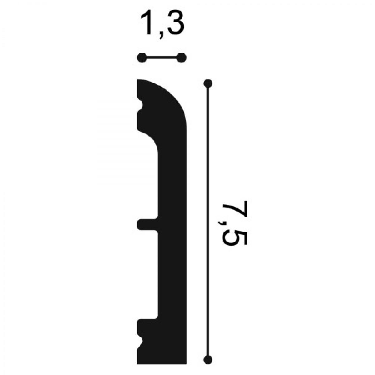 Plinta Flex Axxent SX184, Dimensiuni: 200 X 11 X 1.3 cm, Orac Decor