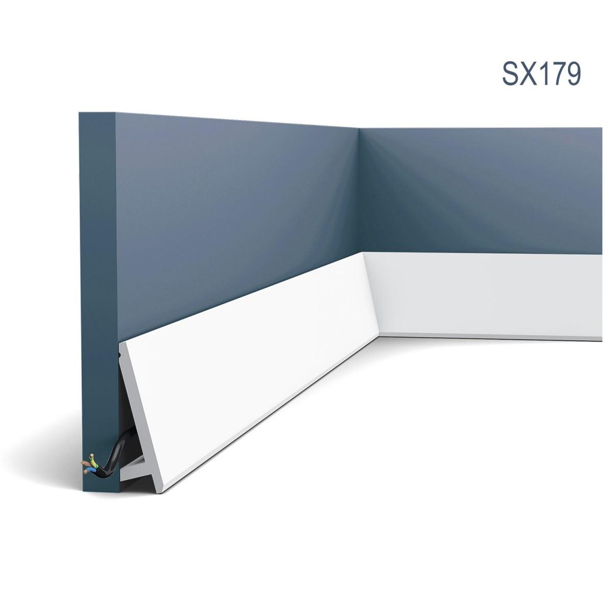 Plintă Modern SX179, Dimensiuni: 200 X 9.7 X 2.9 cm, Orac Decor