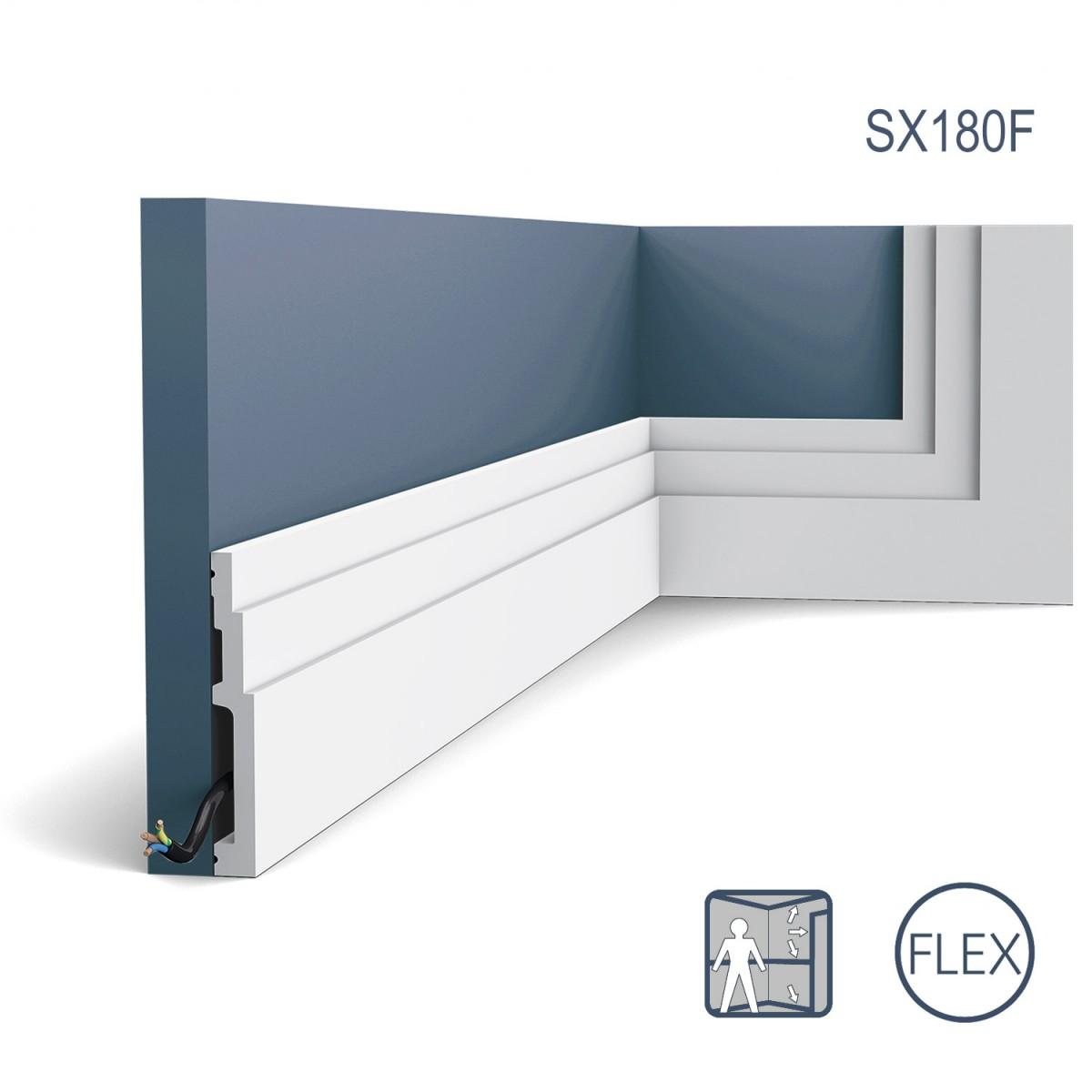 Plinta Flex Modern SX180F, Dimensiuni: 200 X 12 X 1.6 cm, Orac Decor