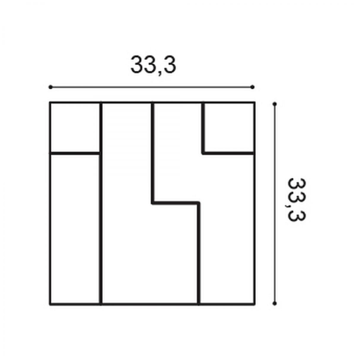 Panel Modern W102, Dimensiuni: 33.3 X 33.3 X 2.5 cm, Orac Decor