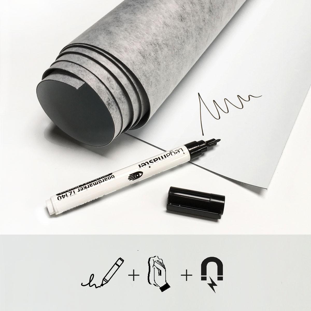 Tapet magnetic whiteboard - 60x265