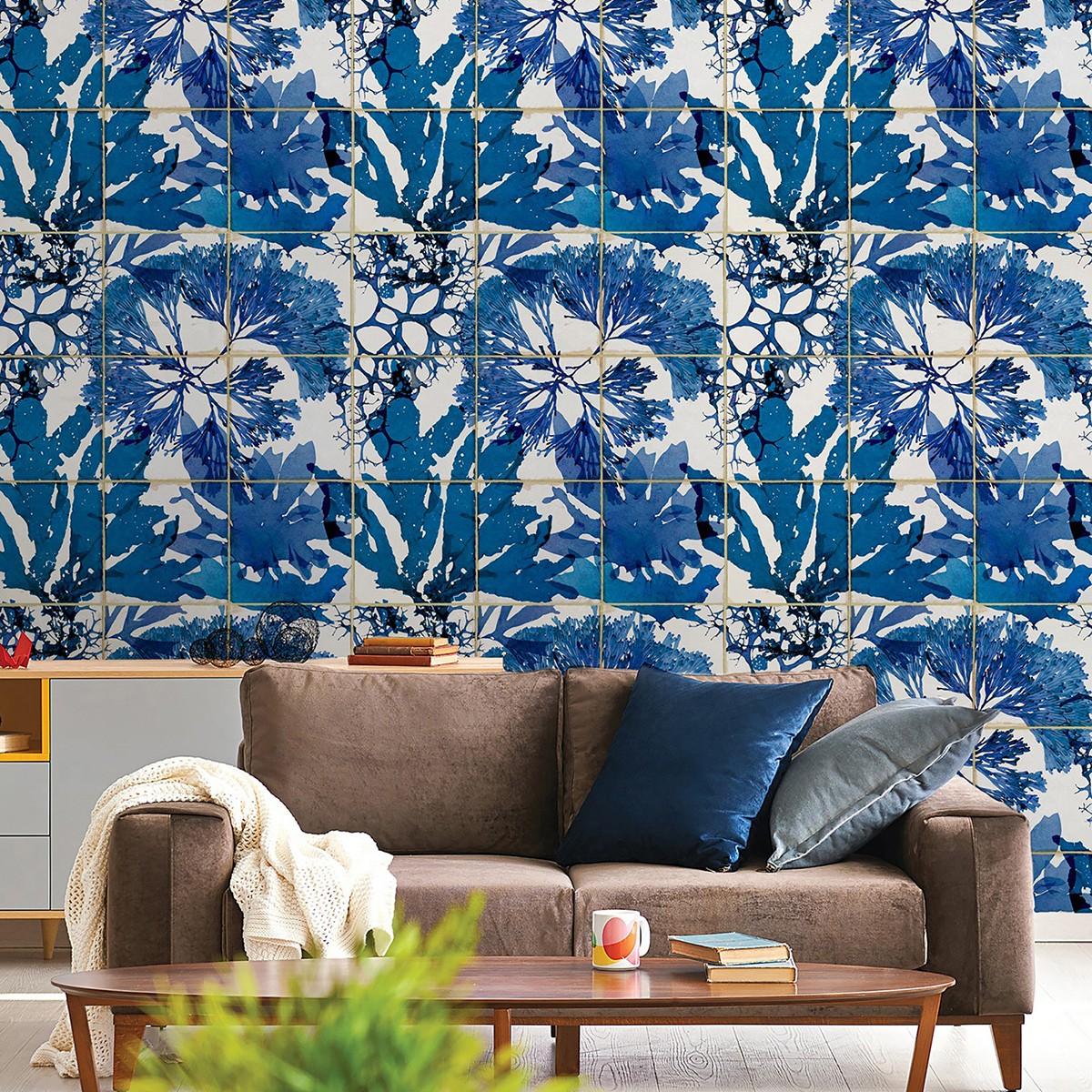 Tapet designer ALGAE IN BLUE, MINDTHEGAP