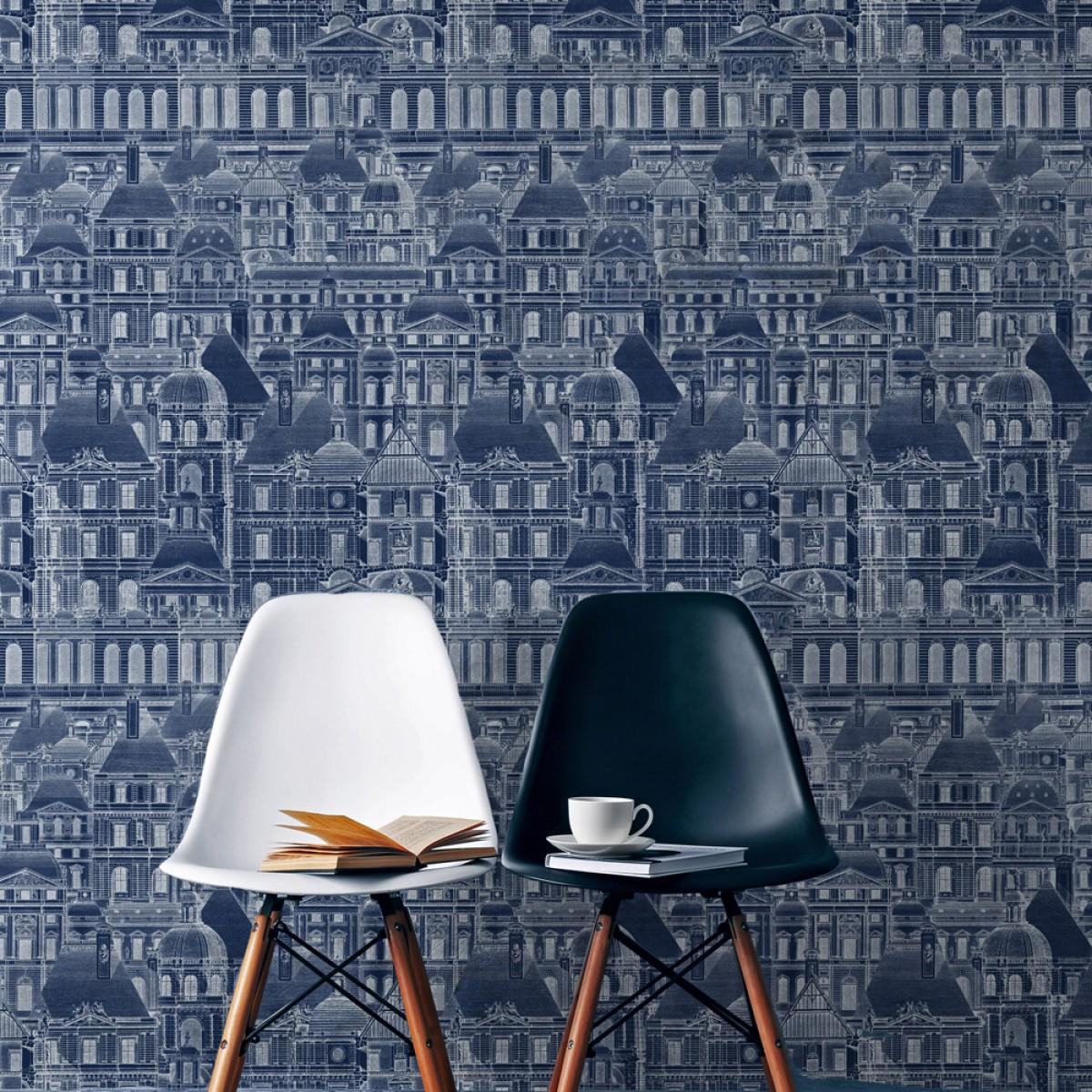 Tapet designer The Architect Louvre Blue, MINDTHEGAP
