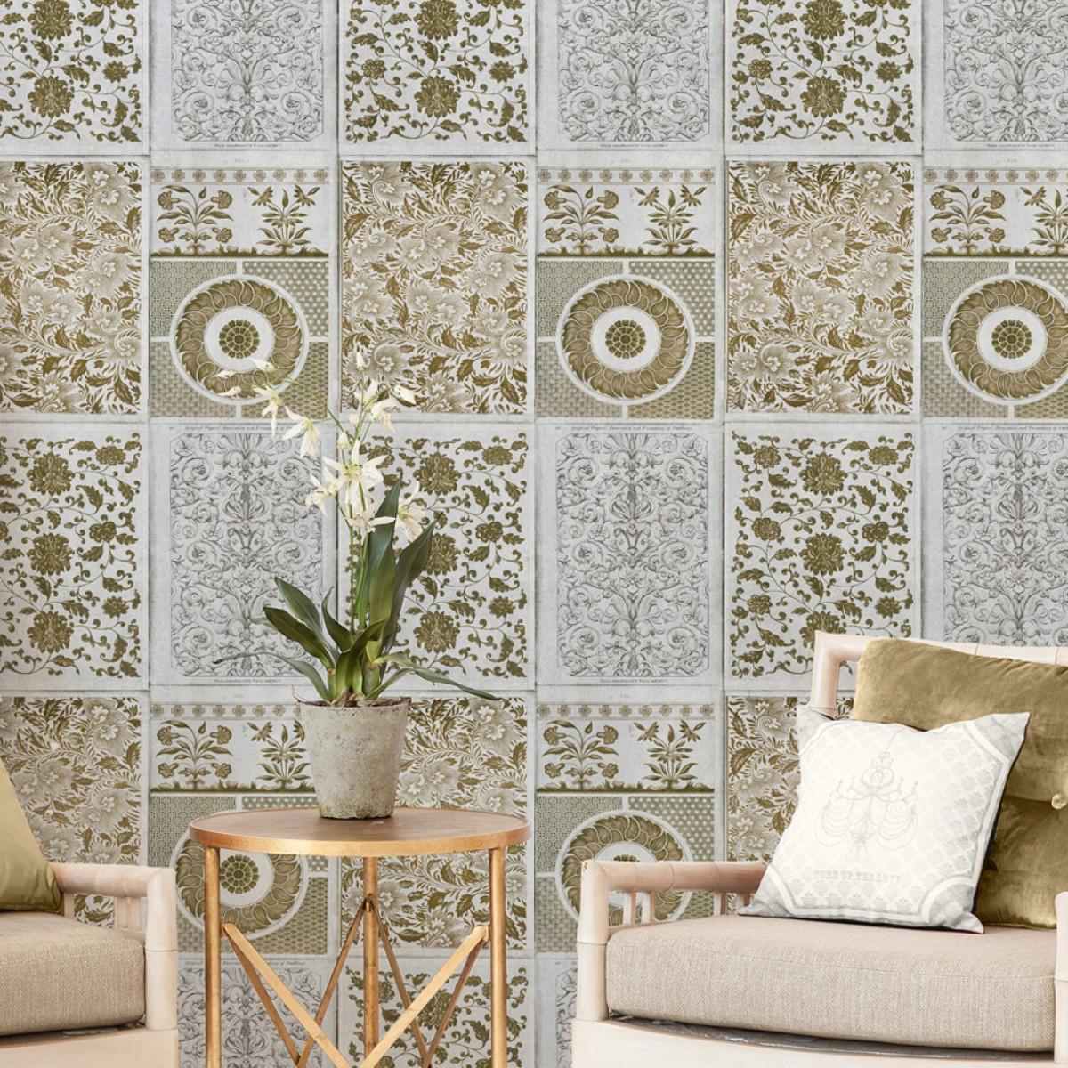 Tapet designer World Culture Chinese Patterns Brown, MINDTHEGAP