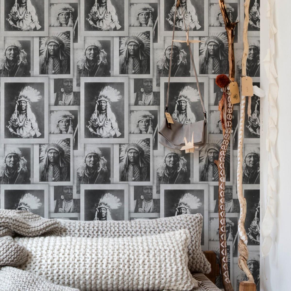 Tapet designer Portraits Indian Heads, MINDTHEGAP