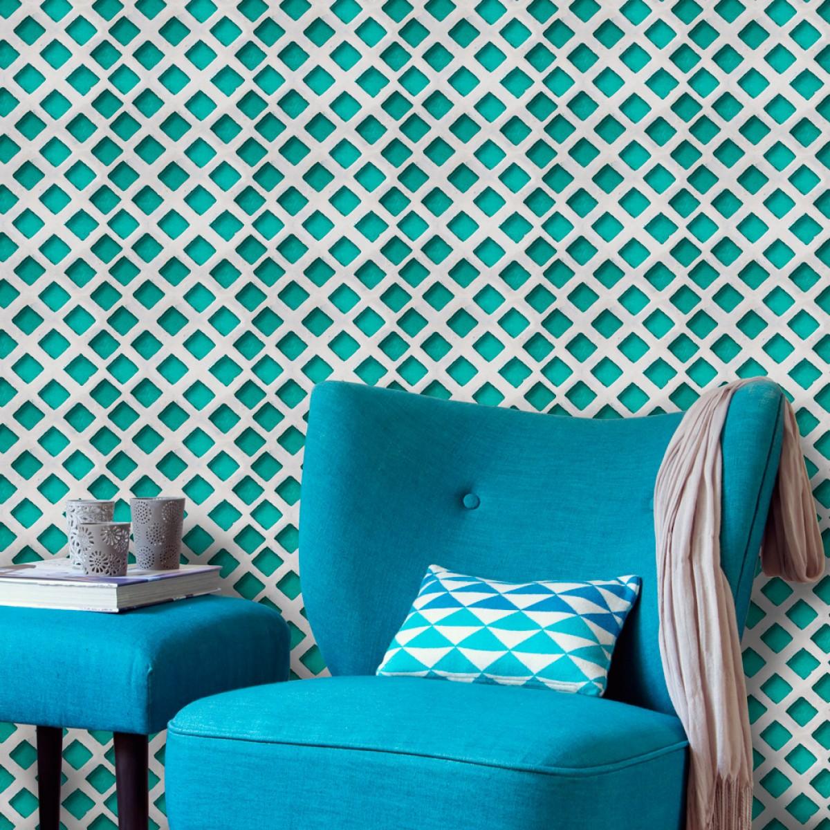 Tapet designer World Culture Turquoise patch, MINDTHEGAP