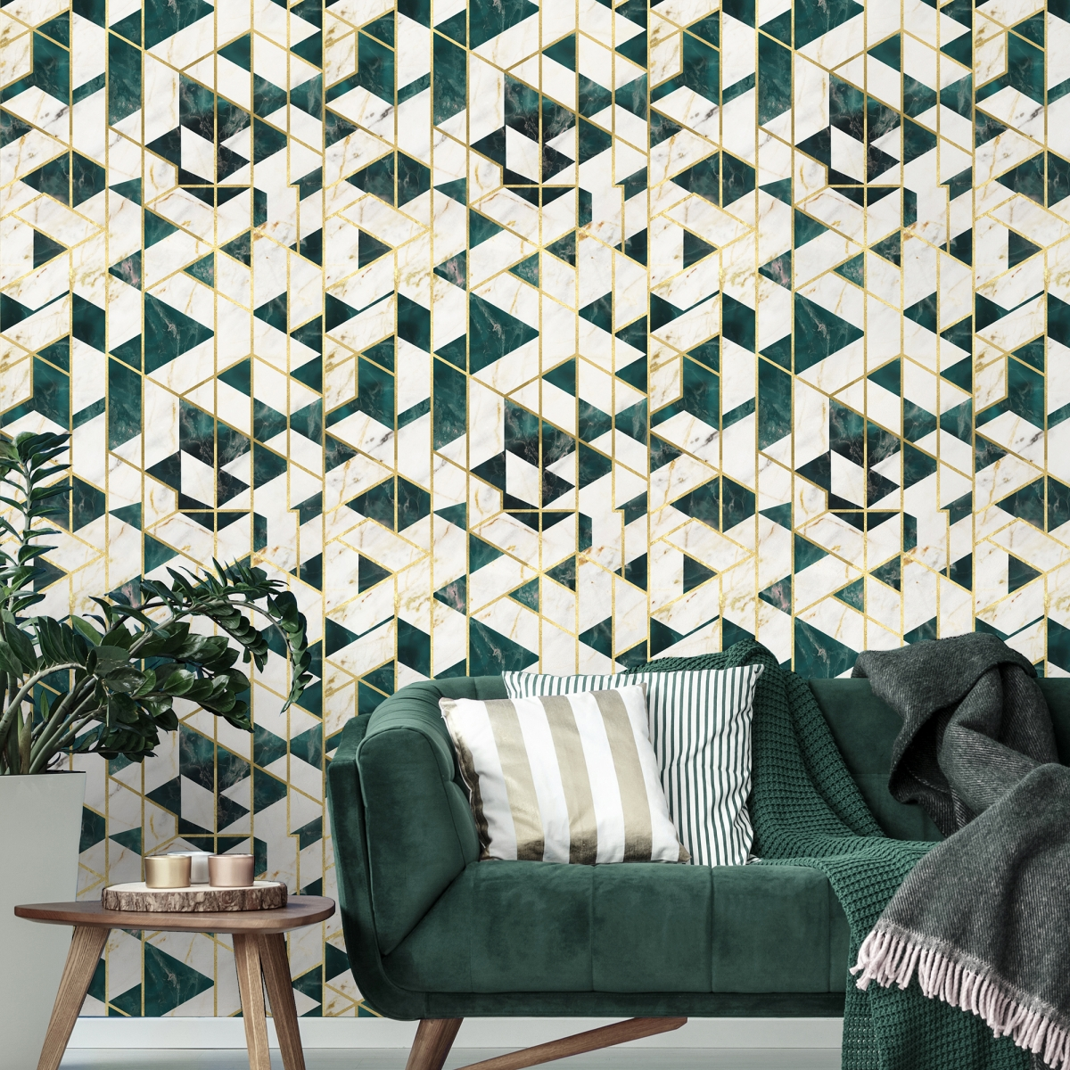 Tapet designer GRAMERCY Emerald Metallic edition, MINDTHEGAP