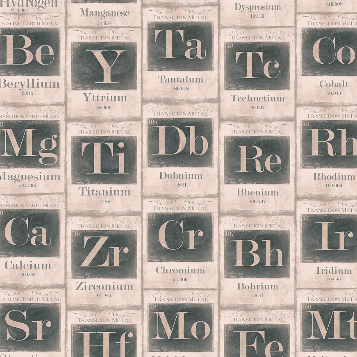 Tapet designer The Scientist Periodic Table sand, MINDTHEGAP