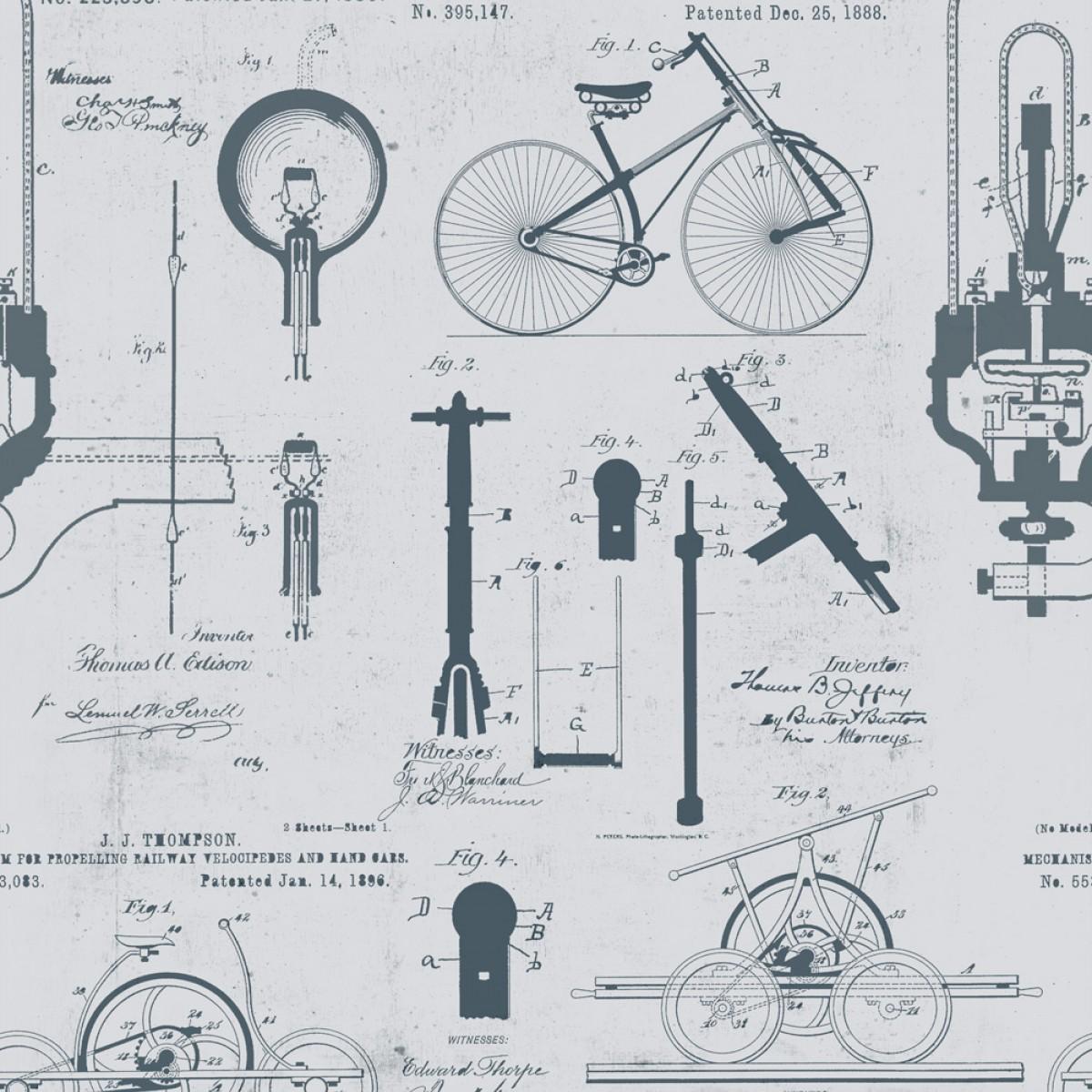 Tapet designer The Scientist Patents Gray, MINDTHEGAP