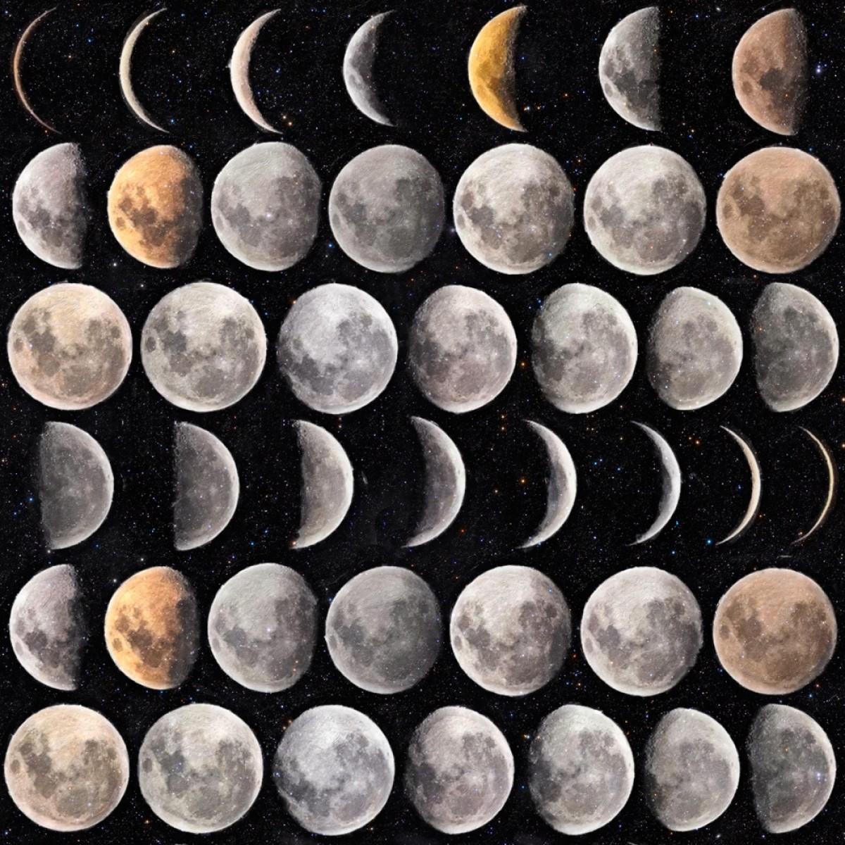 Tapet designer Universe Moon Phases, MINDTHEGAP