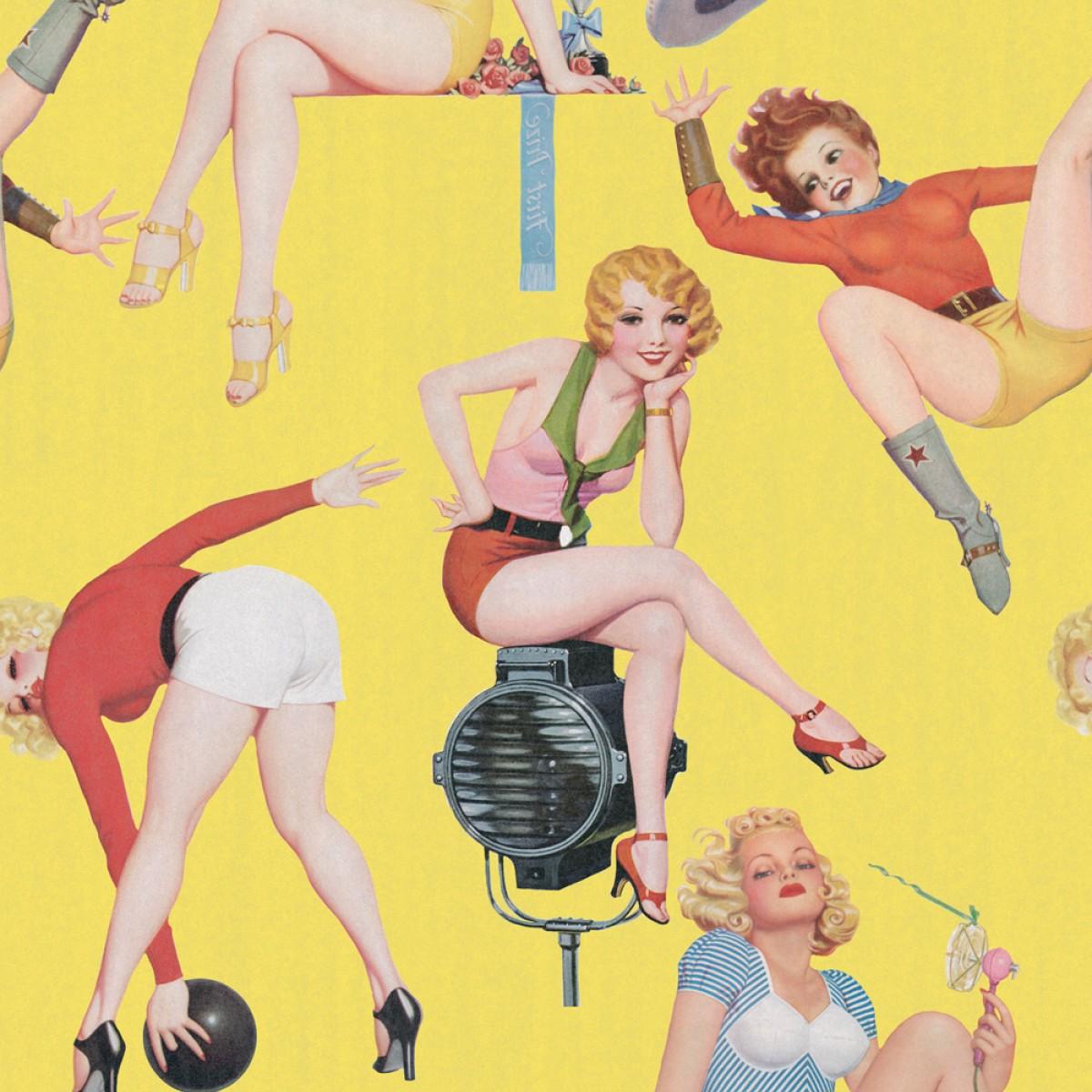 Tapet designer Retro Metro Pin-up Girls I, MINDTHEGAP