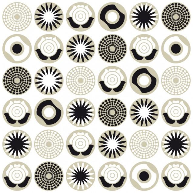 Fototapet Clocks alb negru gri, personalizat, lavmi