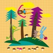 Fototapet Forest, personalizat, lavmi
