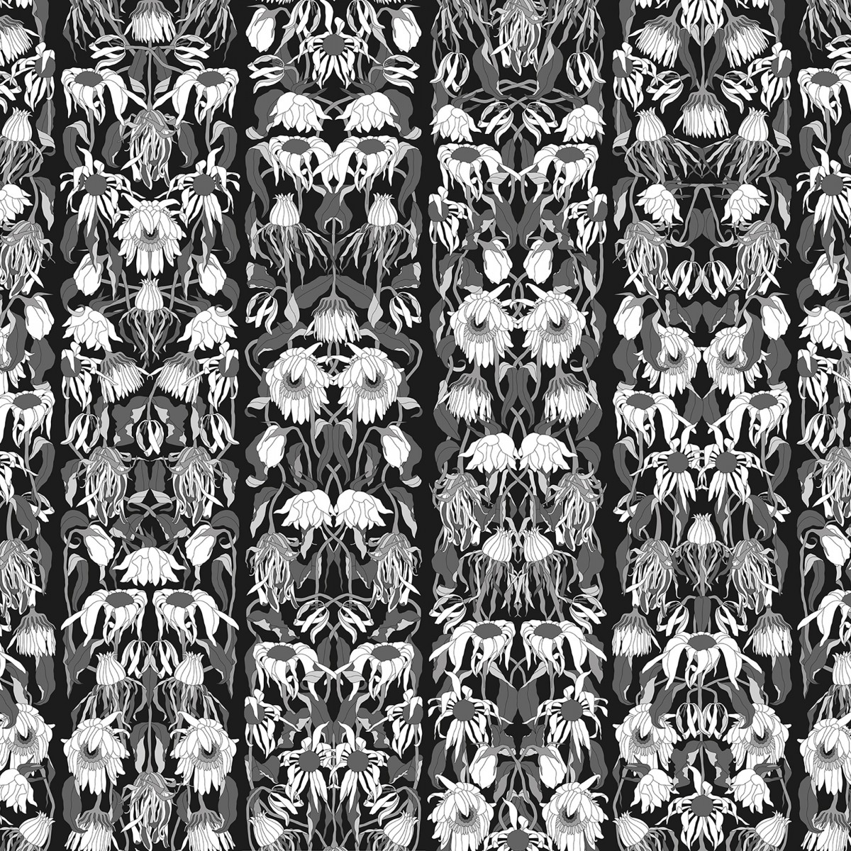 Tapet designer Withered Flowers Black Archives by Studio Job, JOB-06, NLXL, 4.4mp / rola
