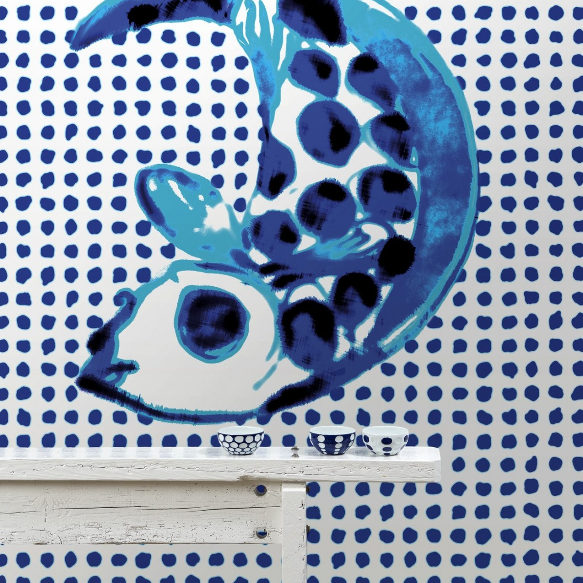 Tapet designer Fish and Dots by Paola Navone, PNO-01, NLXL, 4.8mp / model