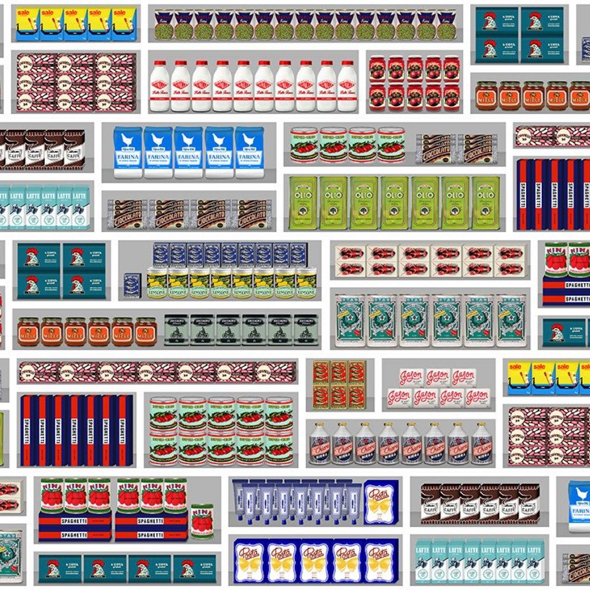 Tapet designer Supermarket by Paola Navone, PNO-09, NLXL, 4.9mp / rola