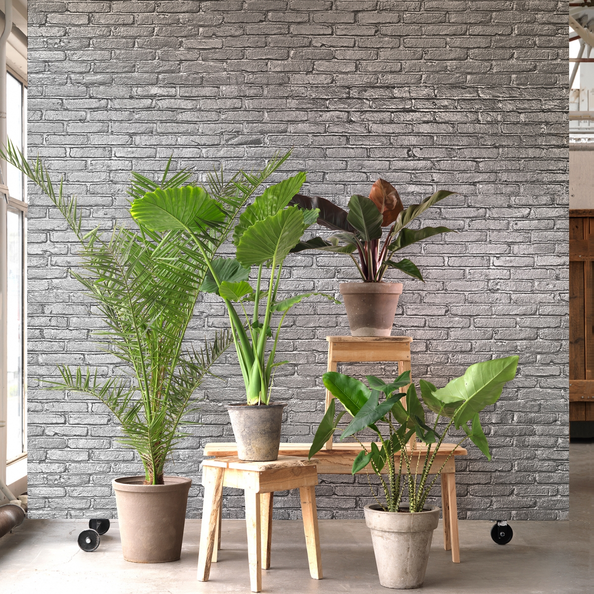 Tapet designer Materials - Brick by Piet Hein Eek, PHM, NLXL, 4.9mp / rola