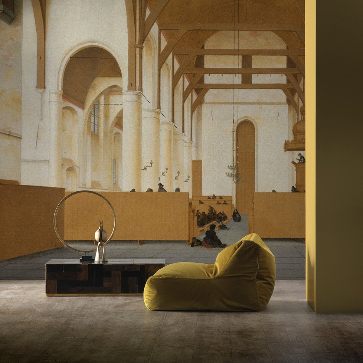 Tapet designer Rijksmuseum - Saint-Odulphus Church by Piet Hein Eek, RKS-02, NLXL, 7.3 - 13.1 mp / model