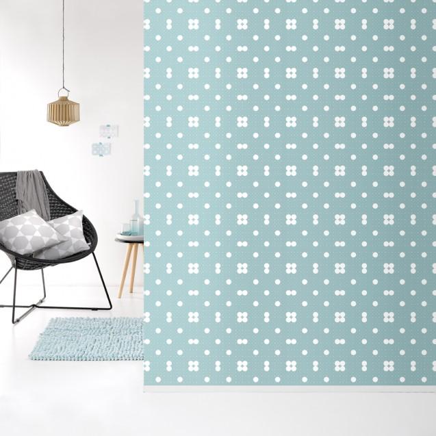 Tapet lavabil premium pastel DOTS, 4 x 50cm x 285cm, ROOMblush
