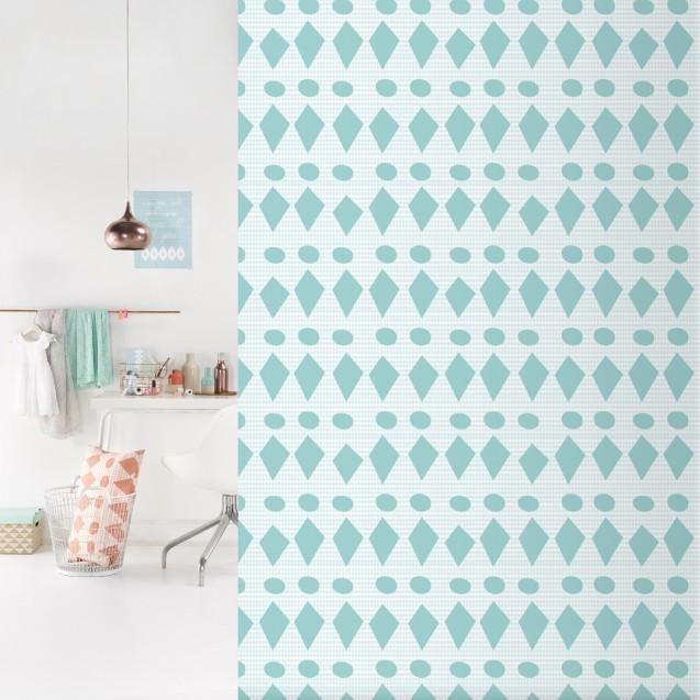 Tapet lavabil premium pastel FLAGS, 4 x 50cm x 285cm, ROOMblush