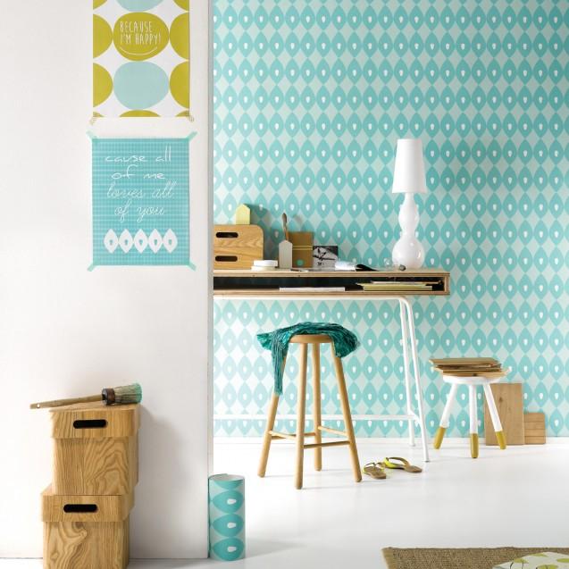 Tapet lavabil premium pastel BLOSSOM, 4 x 50cm x 285cm, ROOMblush
