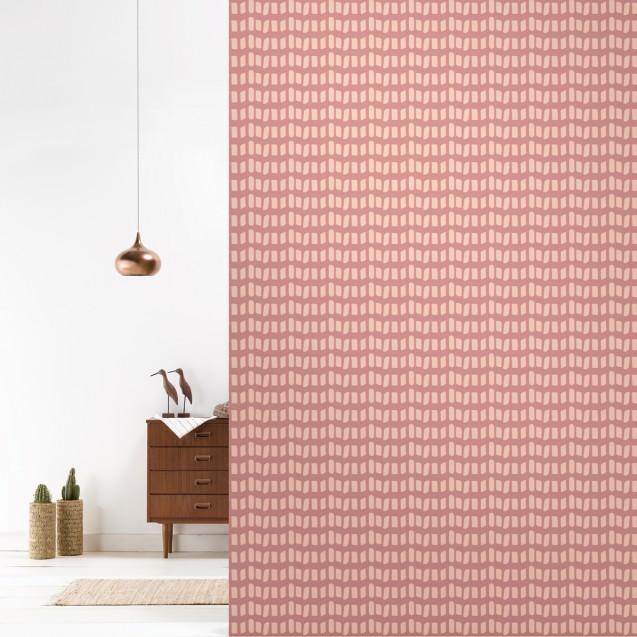 Tapet lavabil premium pastel DOMINO, 4 x 50cm x 285cm, ROOMblush