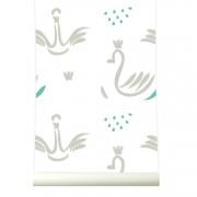 Tapet lavabil premium pastel SWANS, 4 x 50cm x 285cm, ROOMblush