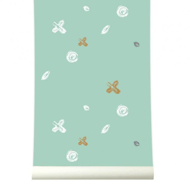 Tapet lavabil premium pastel BUTTONS, 4 x 50cm x 285cm, ROOMblush