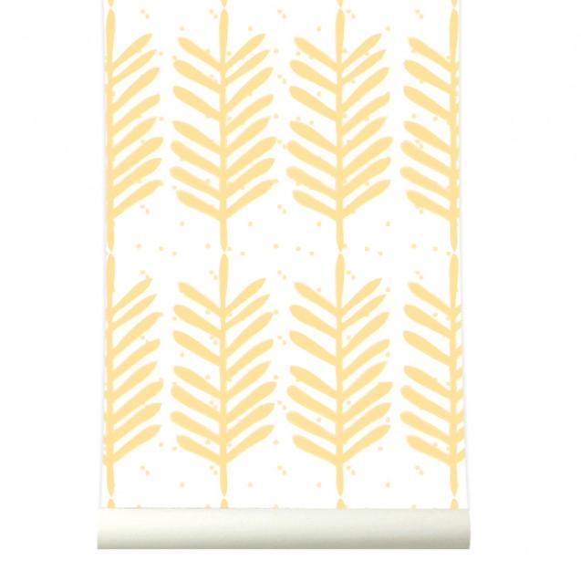 Tapet premium pastel FEATHERS, 4 x 50cm x 285cm, ROOMblush