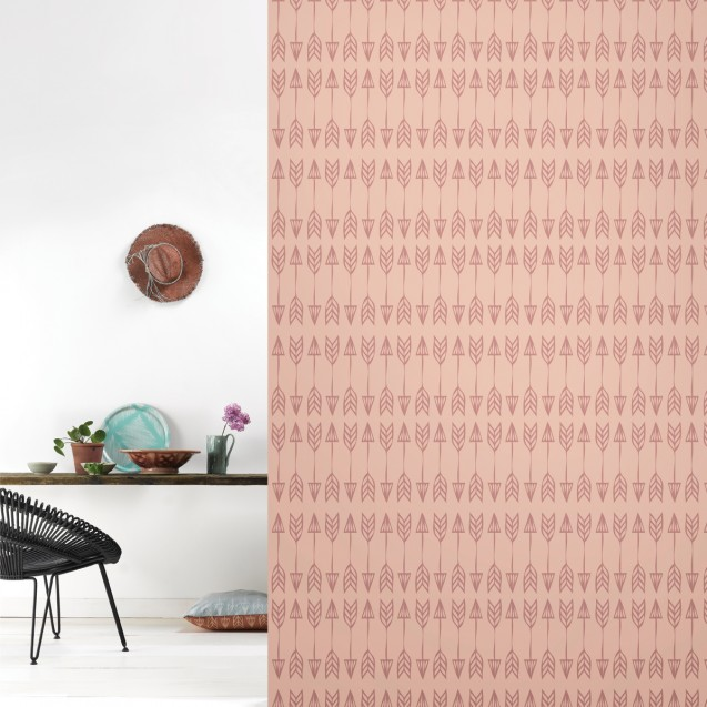 Tapet lavabil premium pastel ARROWS, 4 x 50cm x 285cm, ROOMblush