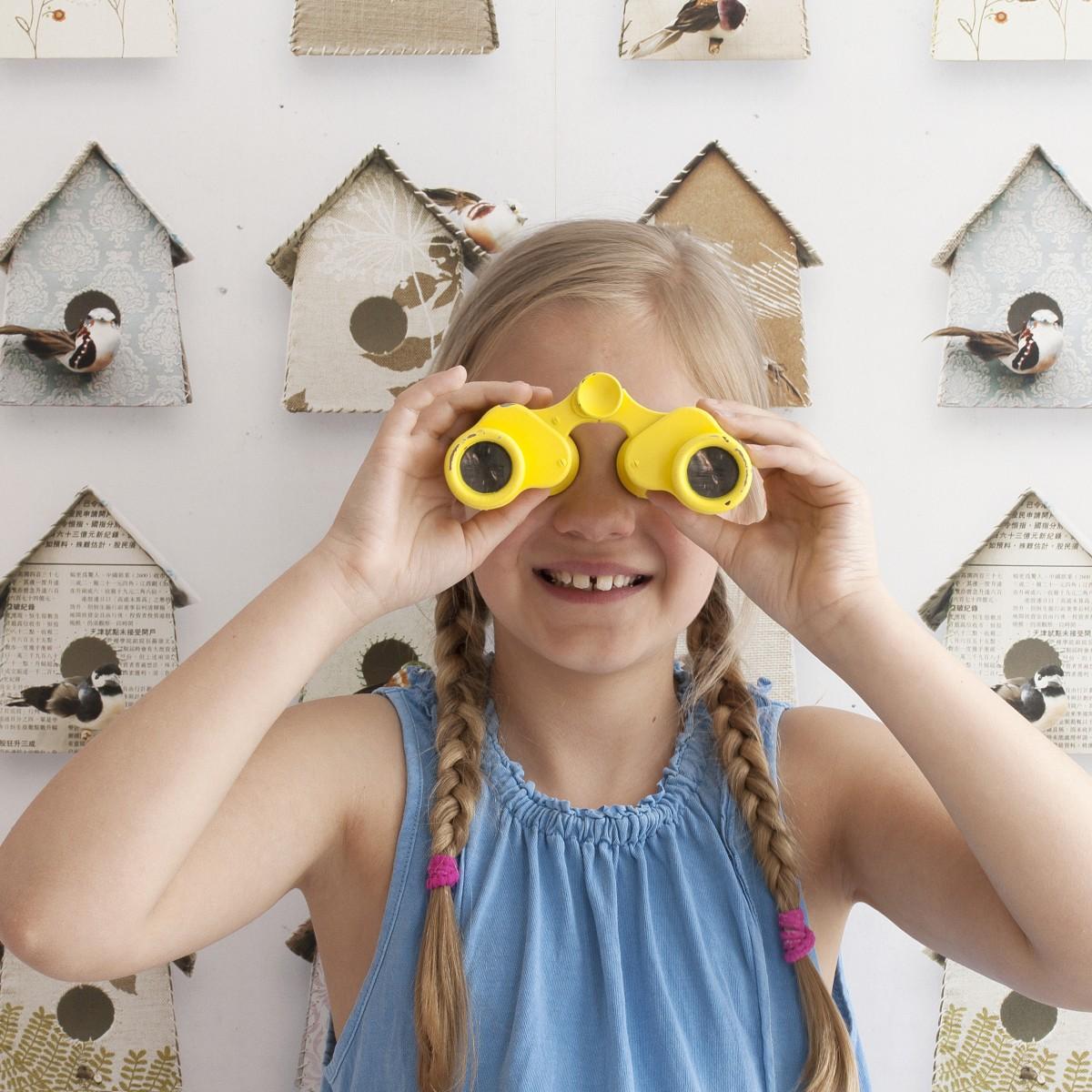 Tapet pentru copii Birdhouses - studio ditte