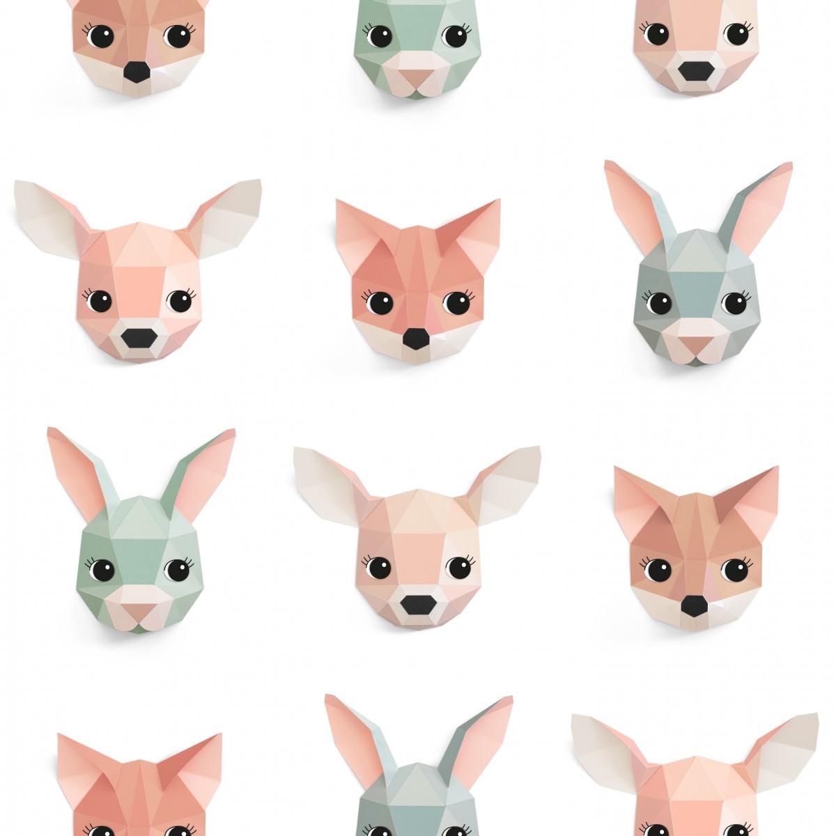 Tapet pentru copii Forest animals - studio ditte