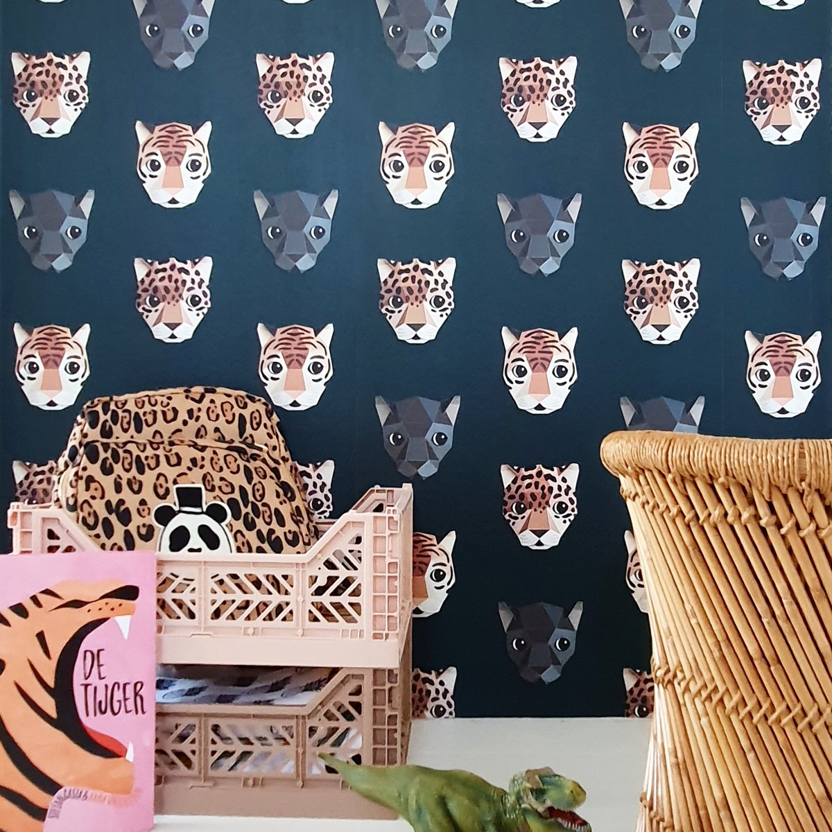 Tapet pentru copii Panthera dark - studio ditte