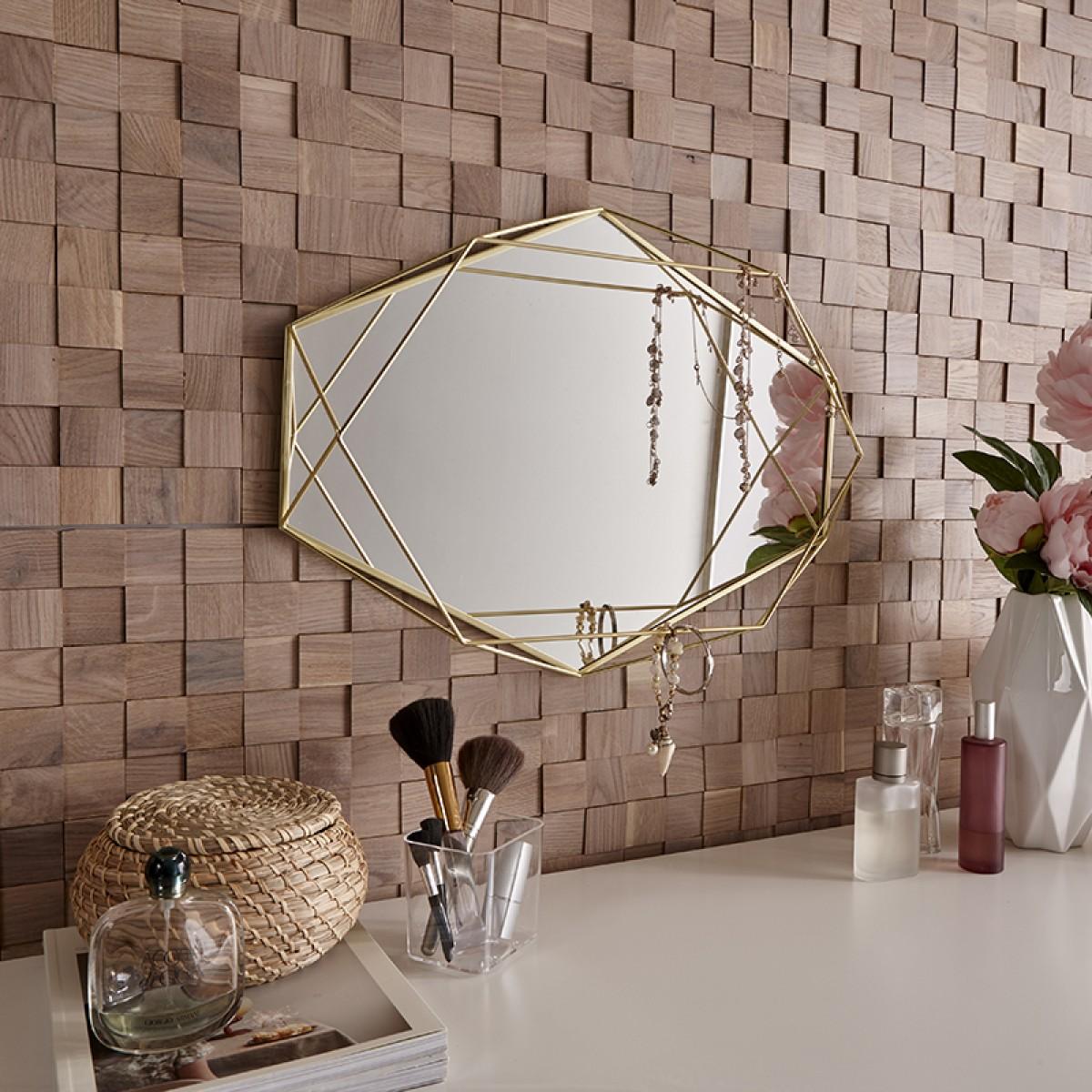Panouri decorative din lemn Mosaic - Chessboard Oak White - 4 plăci