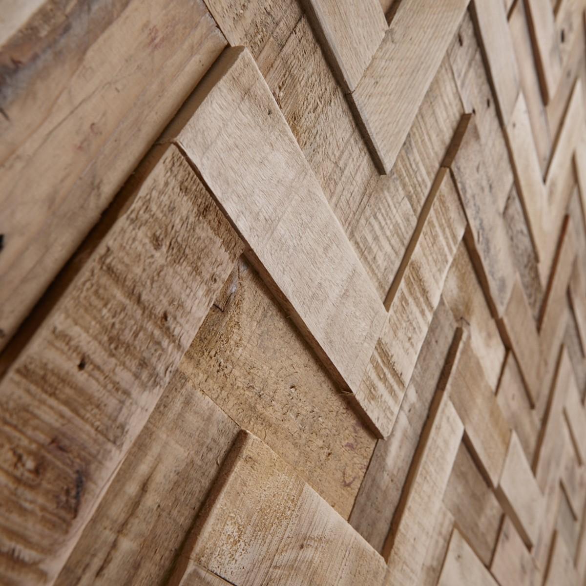 Panouri decorative din lemn reciclat Reclaimed - Herringbone -8 plăci 21.5x50.5cm