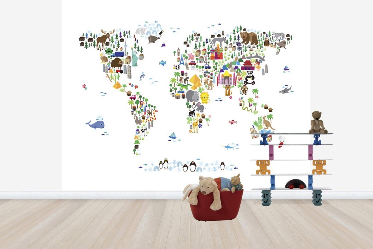 Fototapet Animal Map Of The World  Personalizat  P