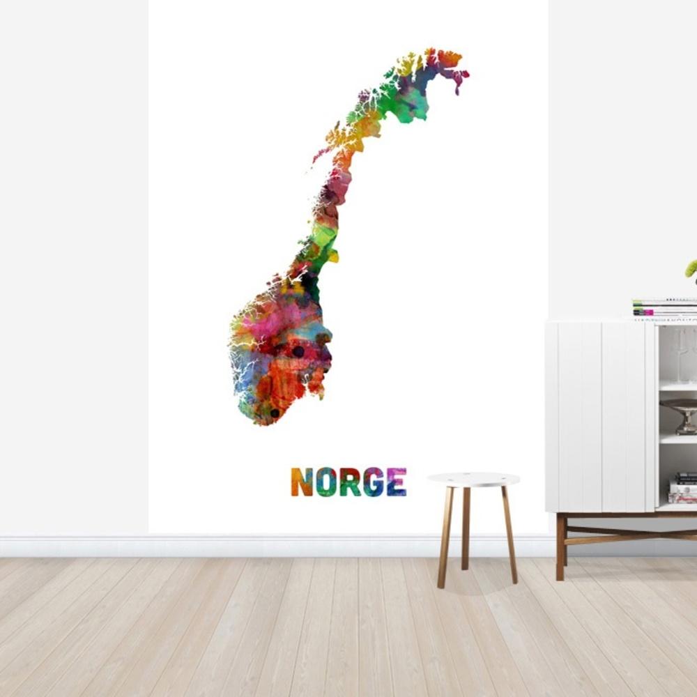 Fototapet Norway Watercolor Map  Personalizat  Pho
