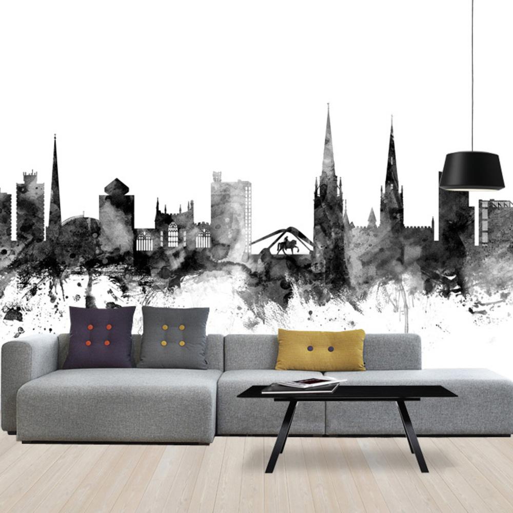 Fototapet Coventry Uk Skyline Black  Personalizat