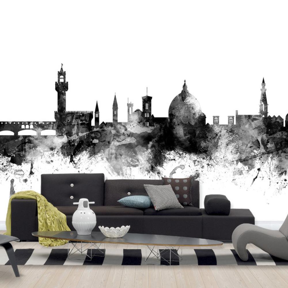 Fototapet Florence Italy Skyline Black  Personaliz