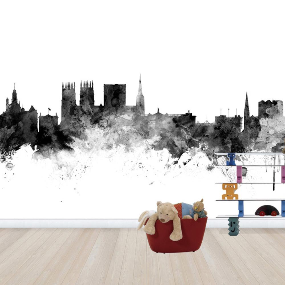 Fototapet York Uk Skyline Black  Personalizat  Pho
