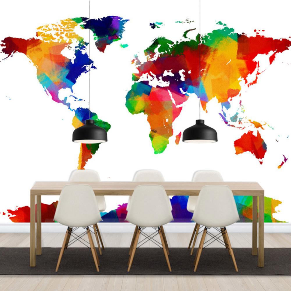 Fototapet Sponge Paint World Map  Personalizat  Ph