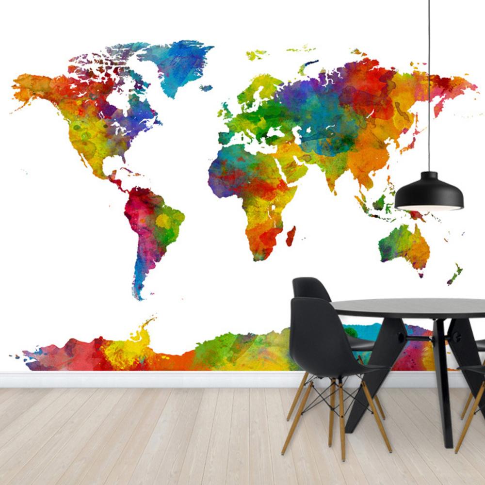 Fototapet Watercolor World Map Multicolor 2  Personalizat  Photowall