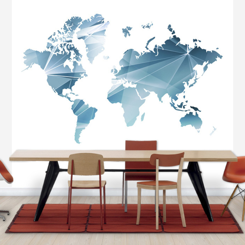 Fototapet Geometric Concept World Map  Personaliza