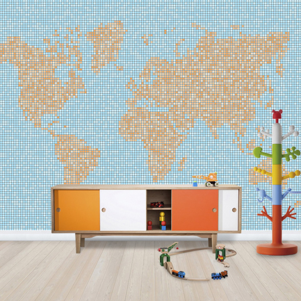 Fototapet World Map Dot Texture   Personalizat  Ph