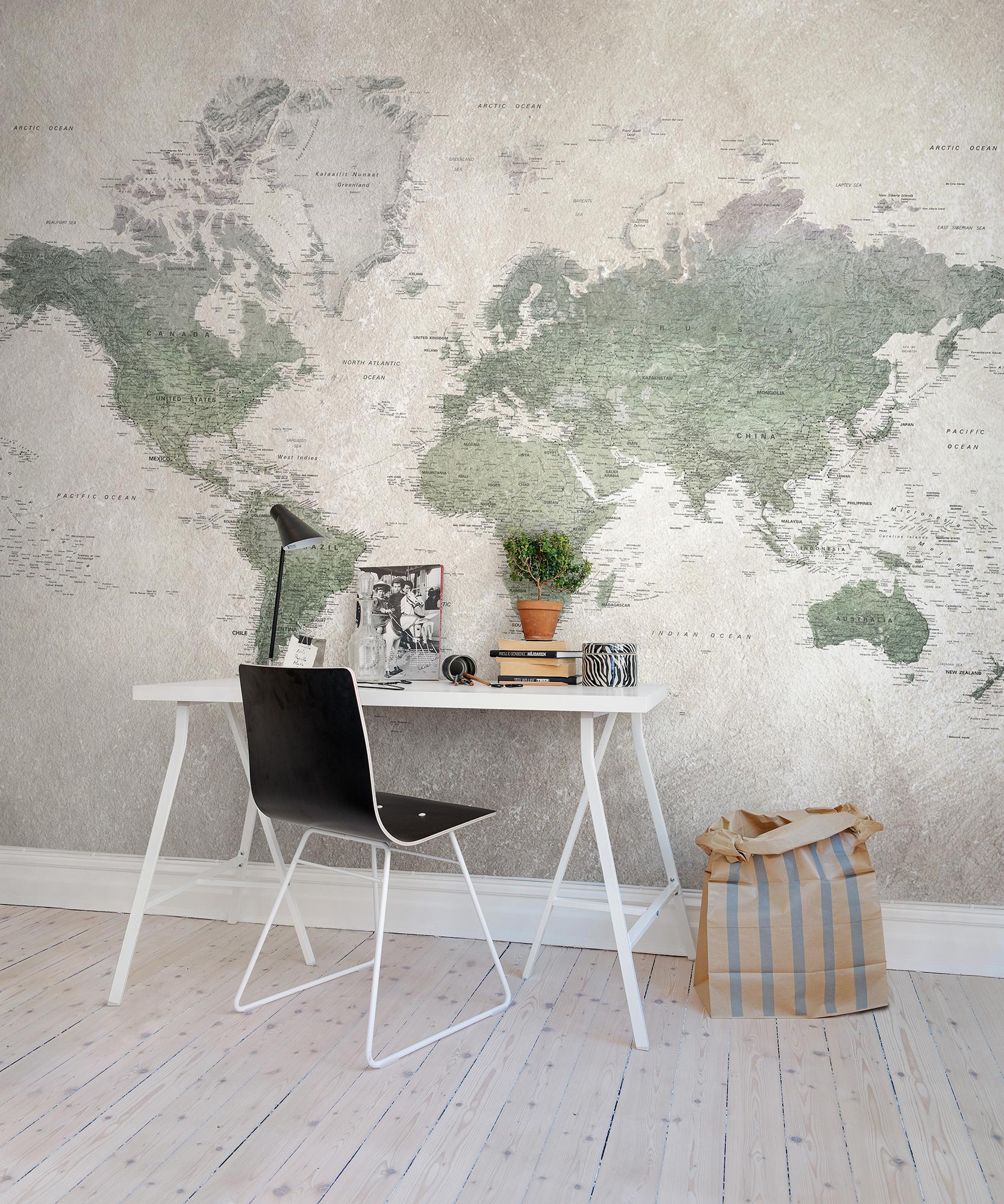 Fototapet School Atlas  Personalizat  Rebel Walls